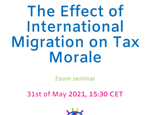 The Effect of International Migration on Tax Morale – Zoom Seminar
